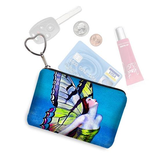 Credit Card Holder Coin Purse Keychain Zipper Pouch Business