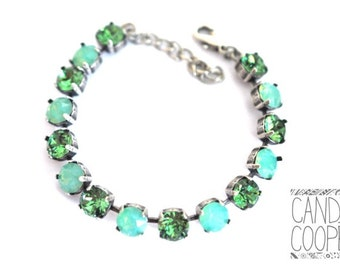Touch of Turquoise Crystal Bracelet kit = DIY Jewelry