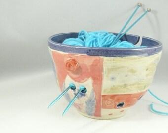 Knitting Bowl, Yarn organizer, Yarn Bowl, Storage for Yarn, Art Bowl for knitter or crochet YB77