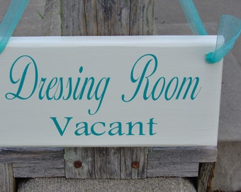 Dressing Room Vacant Occupied Wood Sign Vinyl Two Sided Sign Hair Beauty Boutique Salon Doctor Treatent Retail Business Office Supply Sign