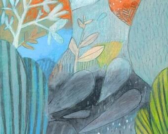 Enchanted Garden - Signed Art Print