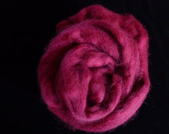 Corry X Hand Dyed Top for Felting Needle Felting Spinning Wine One Ounce