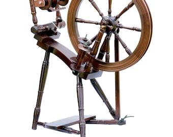 Kromski Prelude Walnut Finish Spinning Wheel Free Ship SPECIAL BONUS
