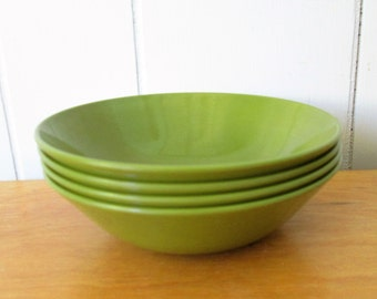 4 vintage green melmac bowls Allied Chemical