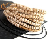 Tiny African Glass Beads, Old White Seed Beads, 2x5mm, 4x5mm, Antiqued Tribal Beads, FULL Strand, Rustic White Glass Seed Beads RX021