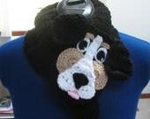 Hand Crochet Bernese Mountain Dog Neck Warmer Made to Order