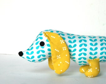 Wiener Dog PILLOW Softie for Kids Plush Toy Dachshund Baby Toy Stuffed Animal BEAUMONT