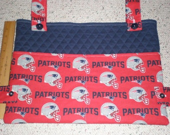 New England Patriots Football Walker Bag Tote