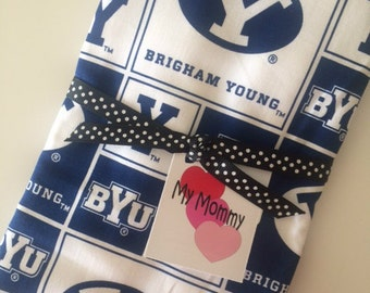 BYU COUGAR Brigham Young University  Baby Boy Girl Burp Cloth NCAA