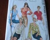 McCalls 4384 Misses Set of Wrap Front Tops Sewing Pattern  size  4 - 14 UNCUT