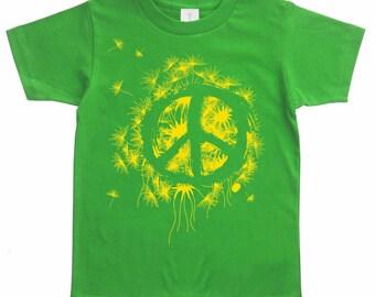 Hipster Kids Clothes, Boys Clothing, toddler girl, Kids tee, Tshirt, Peace Organic T-shirt Unisex, Boys Clothes, Girls, Kids Clothing Shirts