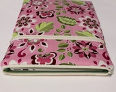 Womens Surface 3 Sleeve Microsoft Surface Pro 4 Case Surface Book Cover Chromebook Laptop Sleeve - Pink Garden Bouquet
