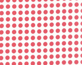 SALE - Gooseberry - Polka Dots in Cloud and Berry Pink: sku 5013-11 cotton quilting fabric by Lella Boutique for Moda Fabrics - 1 yard