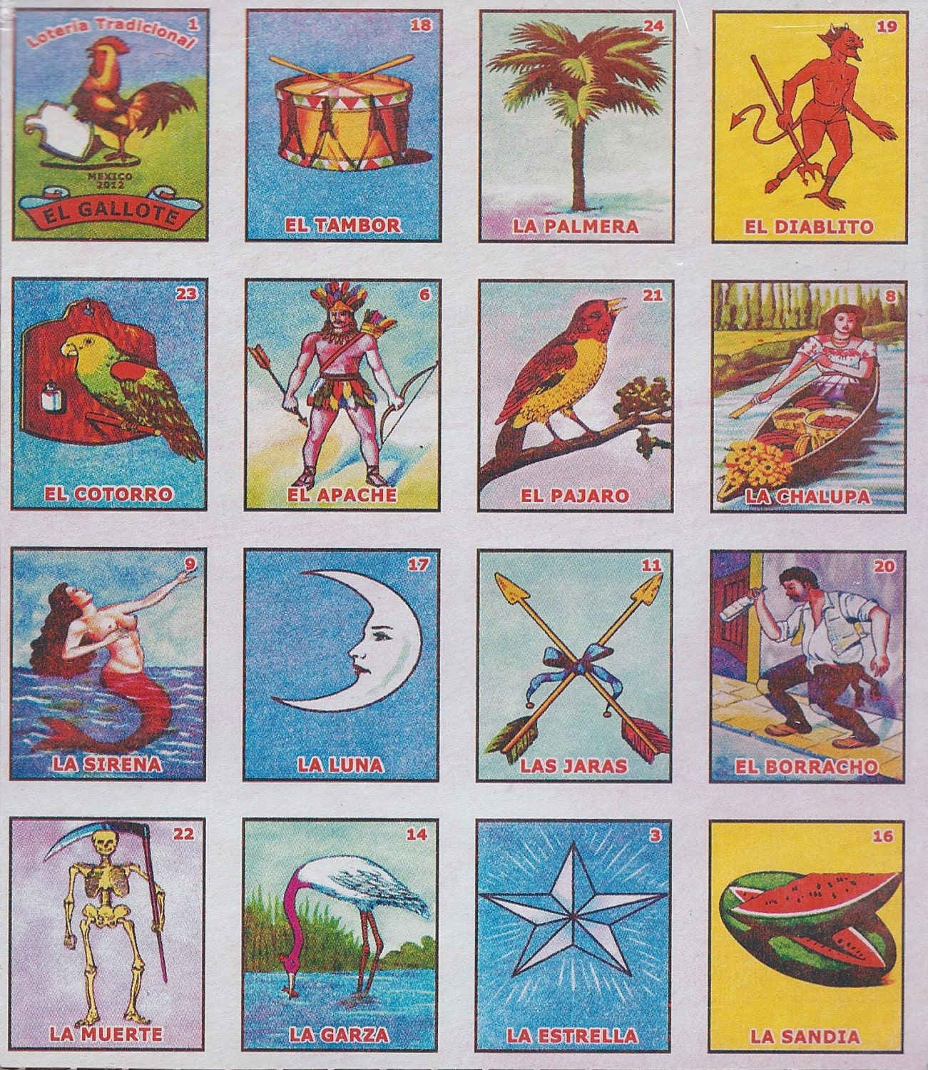 graphic regarding Loteria Game Printable called 10 Printable Loteria Playing cards popularity