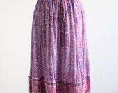 Vintage Indian Purple Cotton Skirt