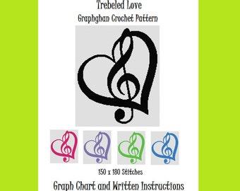 Trebled Love - Graphghan Crochet Pattern