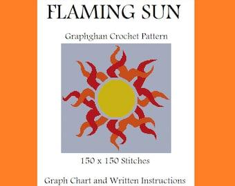 Flaming Sun - Graphghan Crochet Pattern