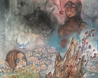 The Vessel // Original Painting Faerie / Magical / Fantasy