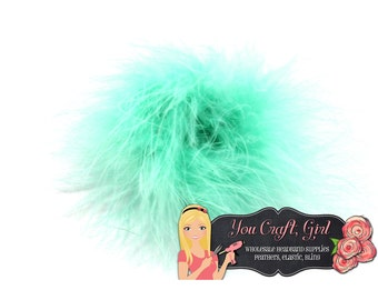 Sale AQUA Marabou Puffs 3 Inch Feather Puffs - Marabou Boa - Feathers - Wholesale Bulk Feathers - Puffs - Hair bow Marabou Feather Puff