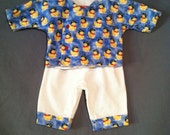Flannel baby set size 0-3m Pirate duckies