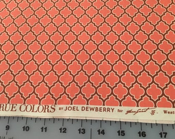 Joel Dewberry Coral Lodge Lattice True Colors Collection Modern Cotton Fabric by the yard from Shereesalchemy