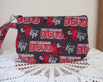 The Walking Dead Zombie Bag Clutch Wristlet Zipper Gadget Pouch Smart Phone Bag