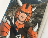 Kento of Hardrock, Ronin Warriors, Samurai Troopers, Laminated Bookmark or Mini Print