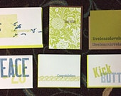 100 Letterpress Greeting Random Remainder SALE