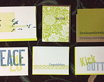90 Letterpress Greeting Random Remainder SALE
