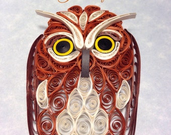 Great Horned Owl/Saw Whet Owl in Quilling