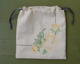 yellow rose project bag