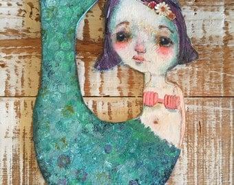 Celestia Mermaid wood cutout - original