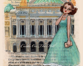 Paris, 1950s - Opera Palais Garnier - 5 x 7 print