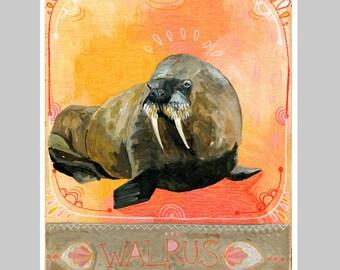 Animal Totem Print - Walrus