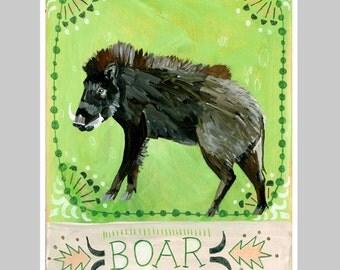 Animal Totem Print - Boar
