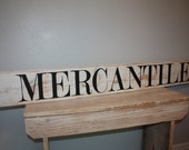 MERCANTILE Sign Large Farmstyle