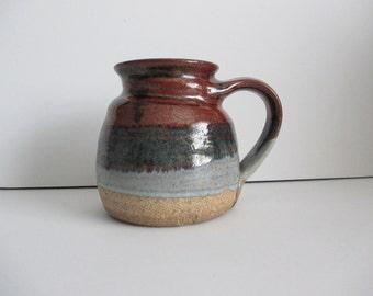 Art Pottery Mug Jumbo Size glazed 3.75 Cup