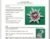 Mrs. Santa Snowflake - pdf crochet pattern