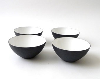 Danish Modern Krenit Bowl Set White 5""