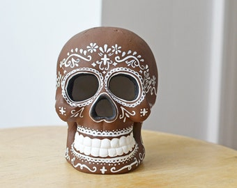 Chocolate Brown Sugar Skull Day of the Dead
