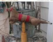 PreHalloweenSale Primitive Christmas Believe in the Magic Reindeer
