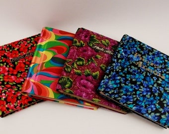 Four Vintage Fabric Covered 1970's Photo Albums Lot