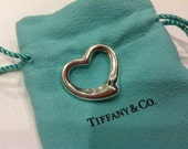 Tiffany and Co. Elsa Peretti open heart pendant in Sterling Silver
