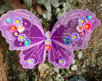 Purple Fairy Wings butterfly festival dance theatre club kawaii cosplay