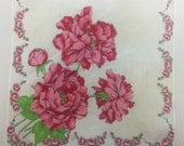 Vintage Handkerchiefs in Floral, Toile, Geisha or Embroidered