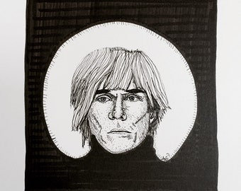 Andy Warhol 9x12 original ink line drawing