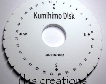 Kumihimo Foam Disc 6in Round Includes instructions for Braiding Cords and Jewerly