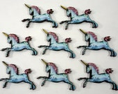 Unicorns - Collection of 8 Wooden Embellishments for Magical Crafting
