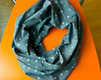 Wasabi Peas Hand Dyed and patterned Infinity Scarf