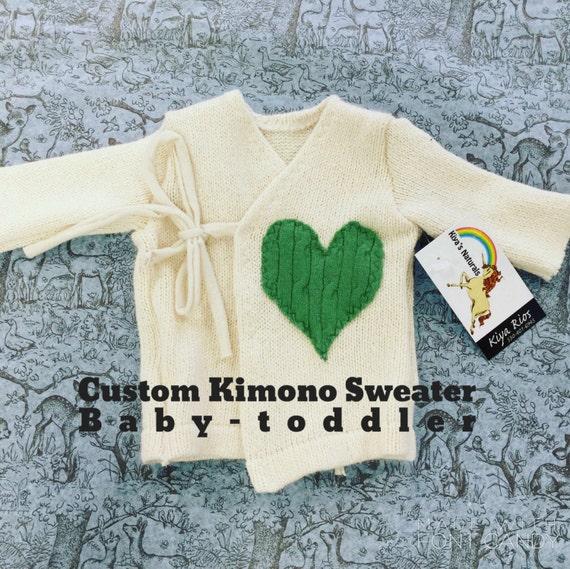 Custom Luxury Woolen Kimono Sweater upcycled cashmere